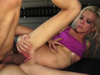 Strapon rough sex bondage and brutal anal scream blonde