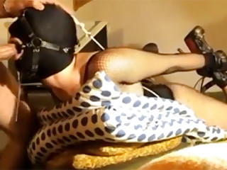 Master shared this video in which he fucks his slave in her mouth and then shoves hooks in her ass. He then sticks three dozen needles into her clit and she cums four times.
