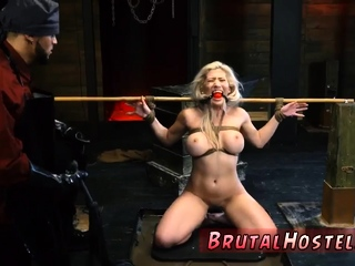 Extreme huge cock and mistress spanks male slave