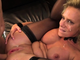 Tied up milf throated and anally fucked