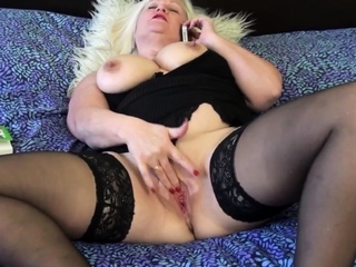 Bound and gagged Lacey Starr gets pussy toyed