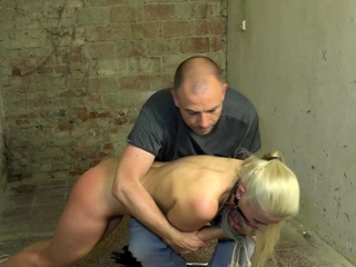 Slim submissive euro spanked and ass whipped