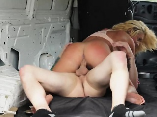 Keely Jones gets nailed in the back of the van