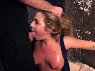 Girl next door rough fucked in bondage