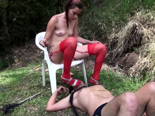 femdom slaps and spits and ashtray domination