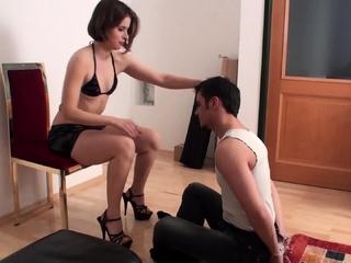 goddess Gloria slap slave richie