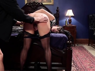 Submissive slut spanked until red raw