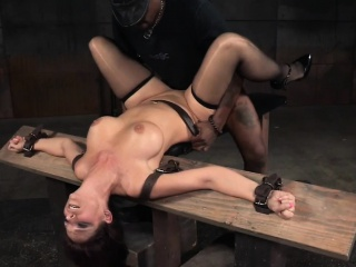 Sub milf deepthroating and fucking in bdsm