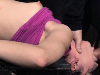 Finger banged slave slapped by maledom