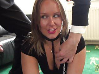 UK sub slut rough doggystyled in stockings