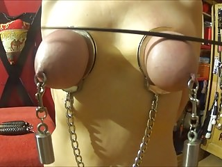 Beat her tits bound in handcuffs