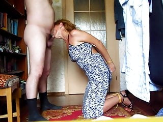 bdsm slave wife gives Master nice blowjob