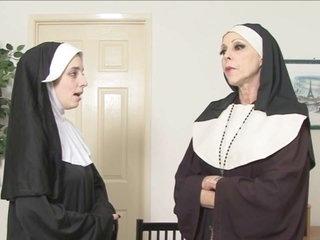 2 nuns spank ebony schoolgirl