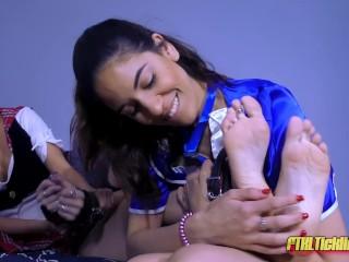 Sorority Hilarity! Pt. 1: Vicky's Ticklish Initiation!