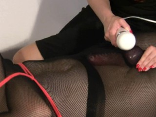 BDSM hitachi cumshot